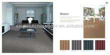 Stripe Simplicity Design 100% PP Grey Modern Office Carpet