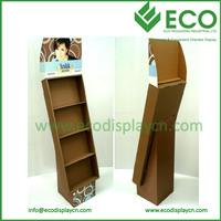 Surpermarket Floor Chocolate Cardboard Display,Corrugated Cardboard Advertising Display Stands Rack For Chocolate Retail