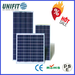 250W Poly 156*156 Best Price Power 100w Solar Panel With Panel Solar Battery