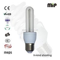 high quality 2U 9W E27 6500K CFL energy saver