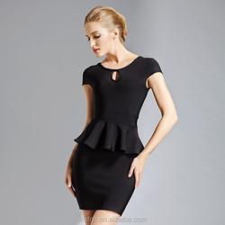 Chiffon ruffled sexy bodycon bandage dresses 2015 online shopping