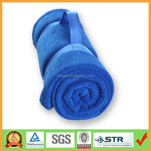 Roll Up Polar Fleece Picnic Blanket with Carry Handle in alibaba china