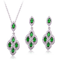 Crystal jewelry Set 18k Gold Plated Jewelry Sets for Women Best Seller in USA / Europ fashion jewelry set