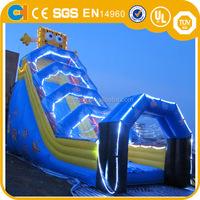 Giant Spongebob Inflatable Slide with Led Light for Sale,Lighted Inflatable Slide,Commercial Slide for Business