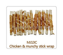 chicken and munchy stick wrap dog food pet treats chewy