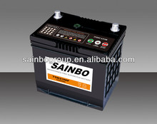 Car battery 75D23MF-65AH best quality maintence free battery