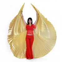 belly dance gold silver wings props exercise performance luxury accessories wholesale