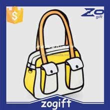 ZOGIFT New Arrived Wholesale Women and Men hot gun bag 3d cartoon bag pistol bag vlieger vandam style fashion PU Leather