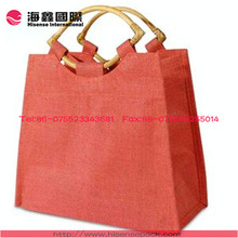 Bamboo tote reusable shopping bag wholesale to export