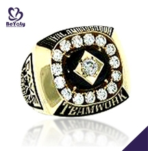 Teamwork Championship cubic zirconia mens gold rings designs