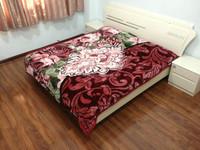 4.5 kg High quality king size embossed raschel blanket