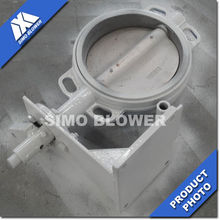 Manual Inclined Cut Off Round High Temperature Butterfly Valve