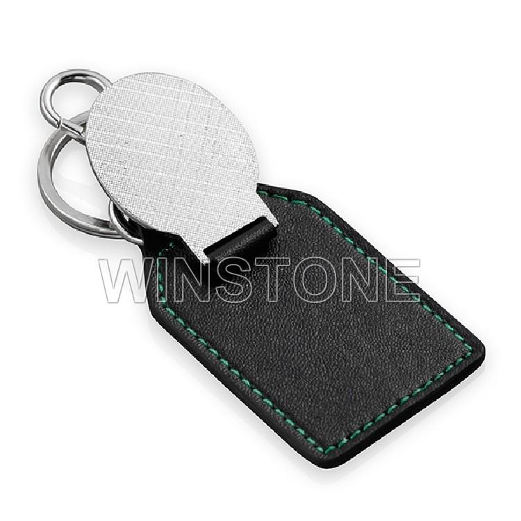 Personnalisé dôme autocollant impression logo en cuir véritable porte-clés