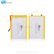 li-polymer 3000mah battery with rechargeable and pcb 3.7v 2800mah 3.2*73*102mmsize in good qulaity