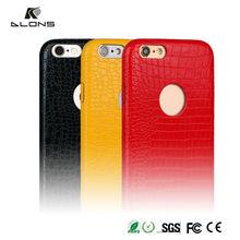Hot selling Fashion PU Leather Protective Phone case for iphone6,Luxury Crocodile Genuine PU Leather case for iphone 6