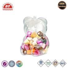 custom safety toy Bear shape plastic clear box for food