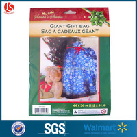 Holiday party decoration plastic gift bag large plastic gift wrap