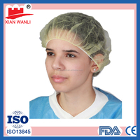 disposable hair caps colorful surgical hair nets