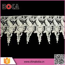 BOKA Embroiderd Polyester Elastic Lace Trimming
