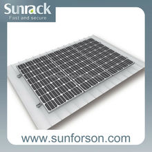 Home solar panel power metal roof mounting system