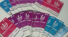 Customized discount coupon series barcode number admission ticket printing