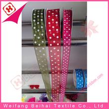 2015 made in china top sell lightness colorful organza ribbon