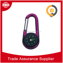 CHD6626 OEM ODM Welcome creative combination lock compass carabiner keyring, carabiner keychain with compass
