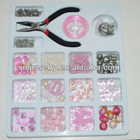 Cheap price for pink color jewelry making kit for adult design