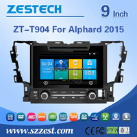 Factory price 2015 touch screen dvd,gps,mp3 player,1080P,10disc, FM/AM new for toyota alphard