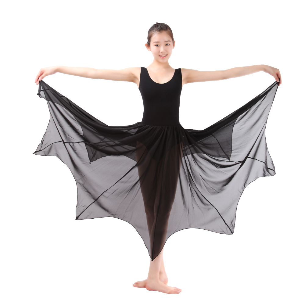 925ad0c8d Ballet Long Chiffon Skirts Lyrical Ballet Leotard Wrap Skirts For Women