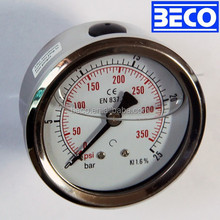 Liquid filled Bourdon tube YTN-63D vibration proof Pressure gauge