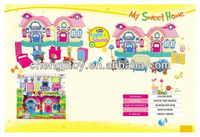 Preschool girl sweet home toy just like home toys for fun with light and sound