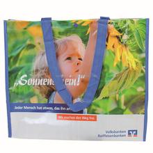 Fancy promotional opp film laminated 100gsm pp woven shopping bag