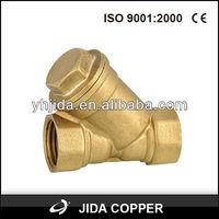 Y-filter female check valve astm a216 wcb check valve