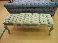 High quality antique bedroom wood bed end foot stool