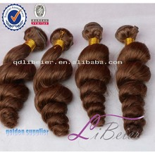Natural Raw 12~30Inch Length 100% Virgin Human Brazilian Loose Deep Wave Hair Weave