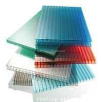High quality UV protection PC Solid roof tiles corrugated polycarbonate sheet price