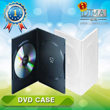 china best selling black or white double dvd case