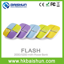 2014 excellent usb output cell phone charger mini portable battery charger 2000mAh