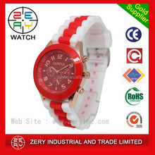 R0601 colorful geneva watch japan movt water resistant,silicone band geneva watch japan movt water resistant