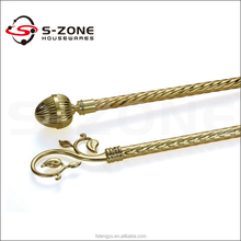 High quality window decorative metal iron curtain rod ceiling curtain poles