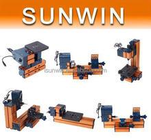 Mini Jig saw, torno, perforación, fresado, lijado 6 1 máquina de usos múltiples kit para Metal blando estudiante de madera manía Modelmaking