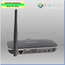 Quad Core Rockchip RK3188 Android Mini PC TV Box 1G/8G WIFI Dual Band, XBMC, DLNA, Miracast