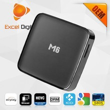 M6 Android TV Box with Quad Core Amlogic S805 Octo core Mali 450 1GB DDR3 8G FLASH OEM Available