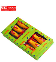Professional Tools 7pcs 1000v insulate slotted and phillips hardened blade screwdriver set