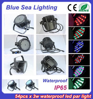 54pcs x 3w stage light disco equipment IP65 led light bulb par 60