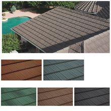 China Wholesale Stone Coated Metal Wood Type Roof Tile