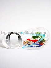 acrylic shoes bottle opener with fridge magnet