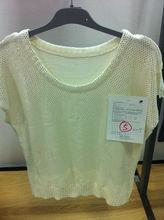 Blanco suéter de manga corta