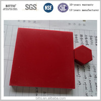 Hot Red Acrylic Solid Surface for Modern Kitchen Countertops, Wall Panels